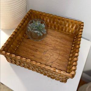 Cute boho woven basket